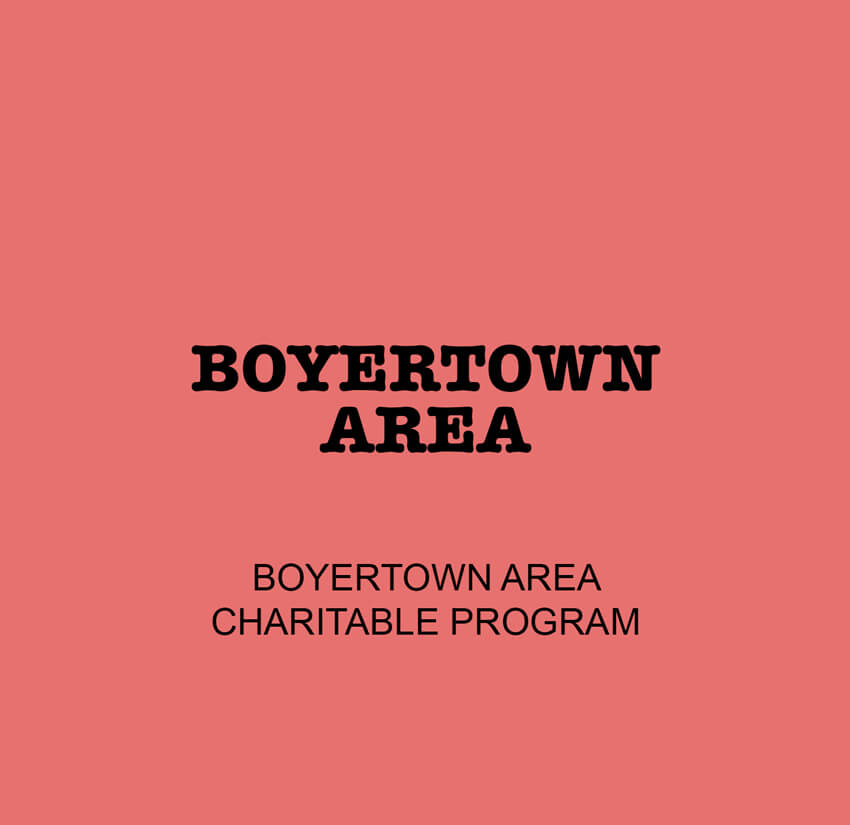 Boyertown Area Charitable Program